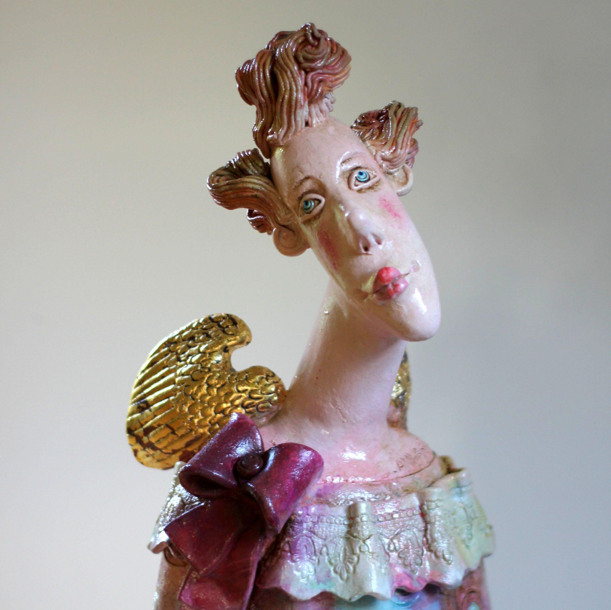 Angel, ceramic sculpture